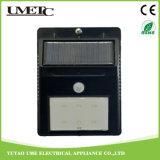 Indicatore luminoso solare alimentato solare della parete del sensore del giardino di illuminazione esterna