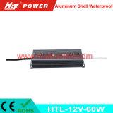 bloc d'alimentation imperméable à l'eau de l'interpréteur de commandes interactif en aluminium continuel DEL de la tension 12V-60W