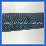 青い及び銀製ワイヤーカーボンファイバーの版