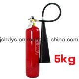 o cilindro 5kg do extintor de incêndio pode CO2 de enchimento com certificação do Ce