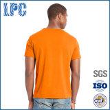 T-shirt da garganta de V dos homens de Jersey do algodão