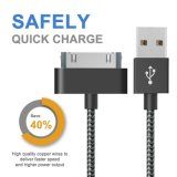 Nylon USB Charger Data Sync Cable para iPhone 4 / iPod