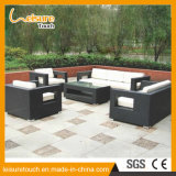 Insieme esterno del sofà del rattan dello schienale del braccio della stanza di seduta della mobilia del patio del giardino