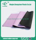 Couvre-tapis en caoutchouc respectueux de l'environnement estampé par couvre-tapis en cuir de yoga d'unité centrale en caoutchouc normal
