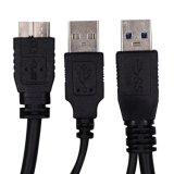 Câble Superspeed de pouvoir duel neuf d'USB 3.0 pour Samsung
