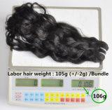 Extensão de cabelo de onda francesa não processada 105g (+/- 2g) / Bundle Cabelo natural da Virgem brasileira Itália Onda 100% Tiras de cabelo humano Grau 8A