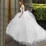 Vestido de casamento nupcial Fs20179 do corpete do laço dos vestidos de esfera do querido