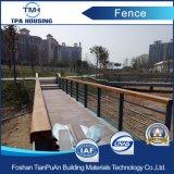 公園の高品質の容易にアセンブルされた木製のプラスチック合成の塀