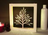 LED 점화 크리스마스 집 훈장 벽화