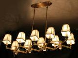 Kupfernes Wohnzimmer-Luxuxcer-anerkannter Leuchter mit Gewebe-Farbton