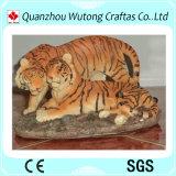 オフィスの装飾の樹脂のクラフトの幸運な動物のトラの彫像