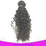 Lockige malaysische Menschenhaar-Großverkauf-Haar-Webart rollt Remy Haar zusammen