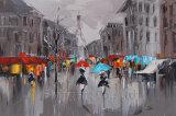 Het moderne Abstracte Olieverfschilderij van de Straat