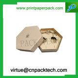 Rectángulo de regalo rígido de papel de encargo del cartón para los cosméticos de la ropa que empaquetan la joyería