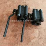 La norme ANSI 1500lb a modifié le robinet à tournant sphérique d'extrémité d'amorçage de l'acier du carbone A105