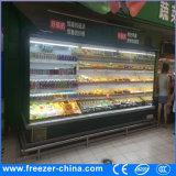 refrigerador aberto da cerveja do indicador de 110V Multideck com a cortina de ar para a mercearia