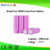Батарея лития 18650 полной производственной мощности brandnew 3.7V 2500mAh