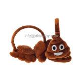도매에 의하여 견면 벨벳 장난감 주문 Emoji 채워지는 귀덮개