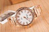 Reloj grande del cuarzo del cuero de la dial de los hombres baratos de las mujeres