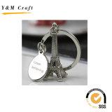 Encadenamiento dominante del recuerdo 3D del metal promocional de la torre Eiffel