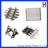 La inyección permanente trabaja a máquina el separador magnético del filtro magnético