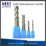 Ferramenta de estaca de alumínio do moinho de extremidade de Adst 55HRC 3flute para a máquina do CNC