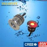 свет смолаы Enclosed IP68 RGB СИД высокого качества 1W 24V подводный