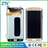 Visualización al por mayor del LCD de la pantalla táctil del teléfono celular para el borde de la galaxia S6 de Samsung más