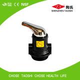 Ajustage de précision électronique de robinet à tournant sphérique d'aiguillage de l'eau de qualité