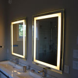 Frameless Sandblast iluminado banheiro Backlit LED Light Wall Mirror