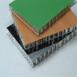 El panel de emparedado de aluminio de piedra natural al aire libre de interior del panal con el grano de mármol (HR491)