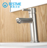 Salle de bains 304 Mélangeur de lavabo en acier inoxydable Nickel Tapis brossé Tapis monté (BMS-B1001)