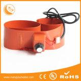 calefator de água da C.C. 12V, calefator flexível da borracha de silicone, elementos de aquecimento
