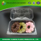Recipiente plástico do armazenamento, caixa que empacota para bolinhos