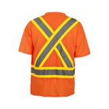 T-shirt de sûreté de Reflcetive de qualité avec la classe 2