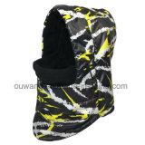 Passa-montanhas impermeável Windproof feito sob encomenda do lenço do velo do chapéu da máscara de esqui do inverno