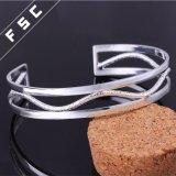 Armband van de Besnoeiing van het Koper van het Ontwerp van de Juwelen van de manier de Nieuwste Zilver Geplateerde