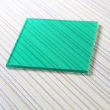 Éraflure de la feuille solide de polycarbonate UV résistant d'enduit de couleur verte