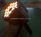 IP dell'interno 20 18X10W RGBW 4 di uso in 1 indicatore luminoso di PARITÀ del LED