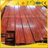 Perfil de alumínio personalizado OEM da extrusão da grão de madeira revestida colorida do pó