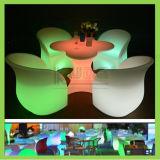 LED 팔 의자 꽃 모양 테이블