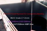 La película hizo frente a la madera contrachapada para el pegamento de la construcción 18m m WBP
