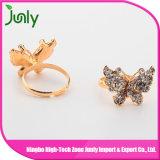 Anillo de oro del diseño del anillo de las señoras del diseño de la mariposa para las mujeres