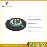 Câble fibre optique blindé de bande en acier uni-mode de 6 faisceaux extérieur