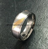 Alto Quliat Titaniumr anillo de la placa de oro de Shineme con 9 piedras