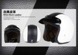 La mitad de cuero casco de la cara de la motocicleta / bicicleta con el aprobado por el DOT