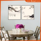 Домашний рисунок украшения крася картину маслом группы 4 панелей на холстине