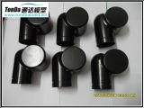 CNC de la precisión que trabaja a máquina las piezas de aluminio y plásticas