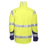 куртка безопасности водоустойчивой желтой высокой видимости отражательная