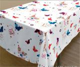 Mantel impreso hermoso popular del PVC con el forro no tejido para Wedding en rodillo